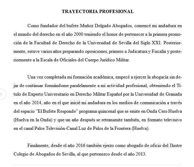 trayectoria profesional Miguel Angel Abogado-Huelva